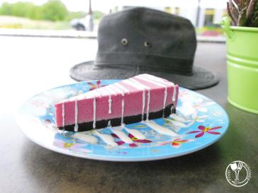 Bistro Alegria, parfe torta od malina (photo by SZ)